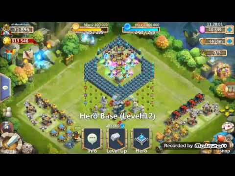 (Castle Clash) Expert Dungeon 8 -10 With 5 Heroes Only (F2P)