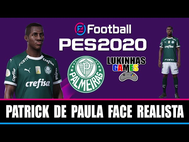 Pes 20 Patrick De Paula Palmeiras Face Realista Look Alike How To Make Tutorial Youtube