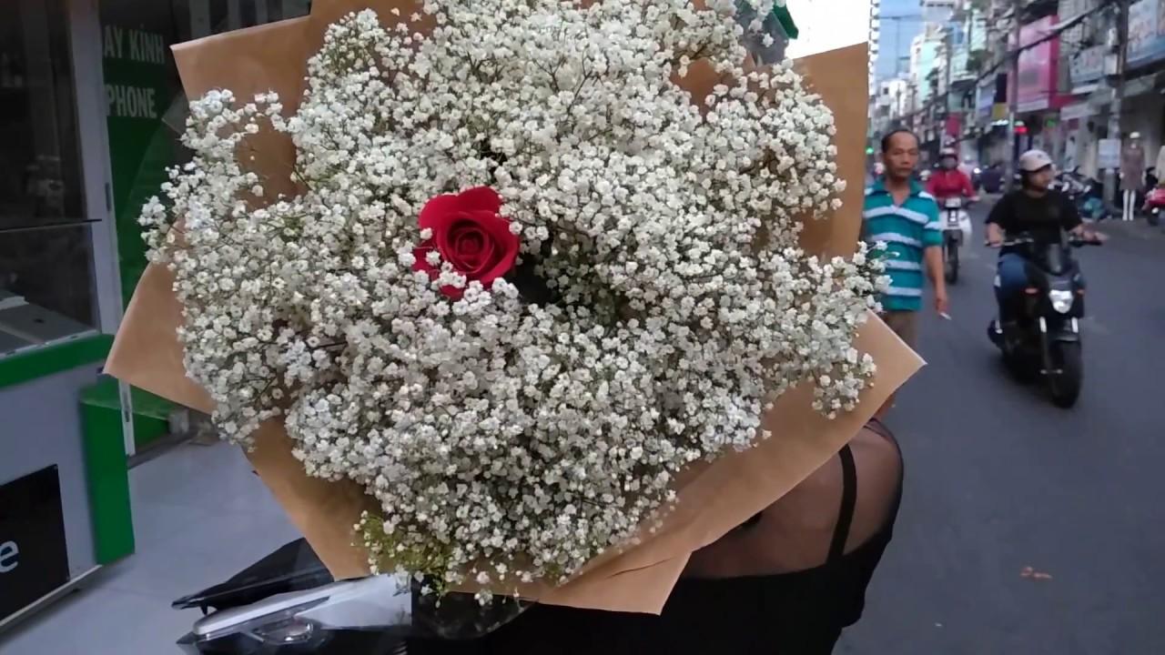 Bó hoa baby Hà Lan siêu to đẹp giá chỉ 500k - YouTube