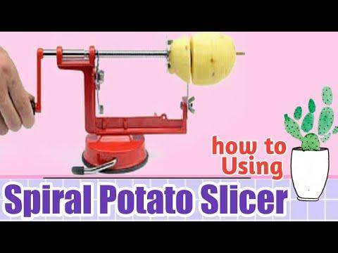 How To Use Spiral Potato Slicer Cara Pemasangan Spiral Potato Slicer