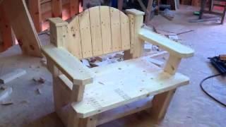 Unique Camp Chair Design From Scraps....