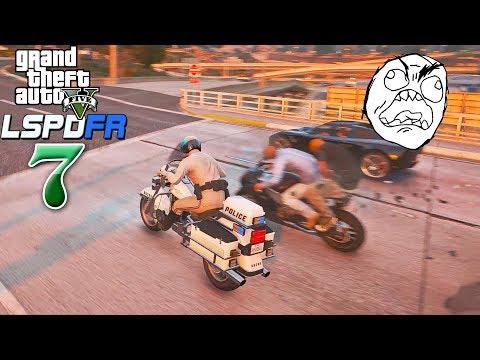 ក្ដៅៗប៉ូលីសបើកបុកចោរប្លន់ធនាគារប៉ះជើងច្រងាង - GTA 5 Redux LSPD Ep07 Khmer|VPROGAME