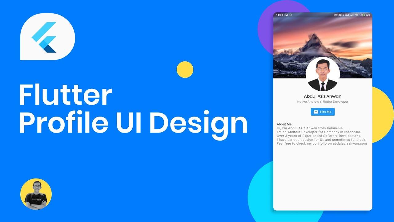 Flutter UI Tutorial - Designing Profile Page UI Design in Your App