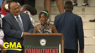 Yolanda king took center stage at the march on washington recalling her grandfather's words.subscribe to gma's page: https://bit.ly/2zq0du5 visit go...