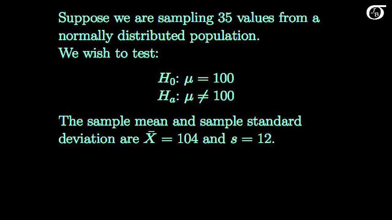 Hypothesis tests on one mean: t test or z test? - YouTube