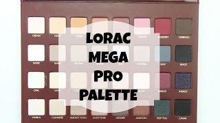 LORAC Mega Pro Palette: Live Swatches & Review Thumbnail