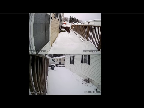 North East snow storm -- Schodack, NY -  Albany, New York area (USA)