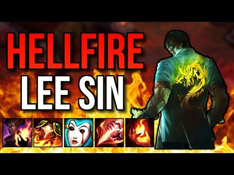 HELLFIRE LEE SIN STRAIGHT MELTS | Lee Sin Build Challenge - League of Legends