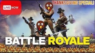 Almost won with new THANKSGIVING SKIN (FORTNITE)(Must Watch)