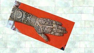 Stylish Indian wedding bridal mehandi design for front hand ## full hand bridal mehandi design ## 7