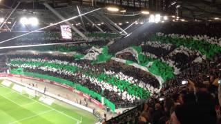 Fan-Choreografie Nordkurve Hannover 96 Derby gegen Braunsch