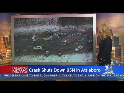 Massive Crash Shuts Down Interstate 95 North In Attleboro