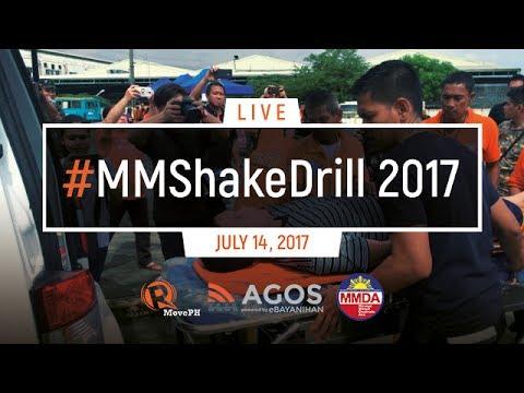 LIVE: Metro Manila Shake Drill 2017