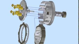 clutch / kopling sepeda motor design by autodesk inventor