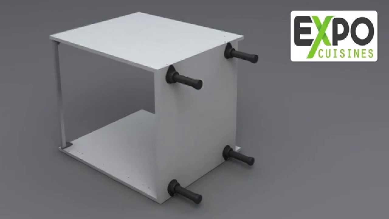 montage meuble bas sous evier 2 casseroliers