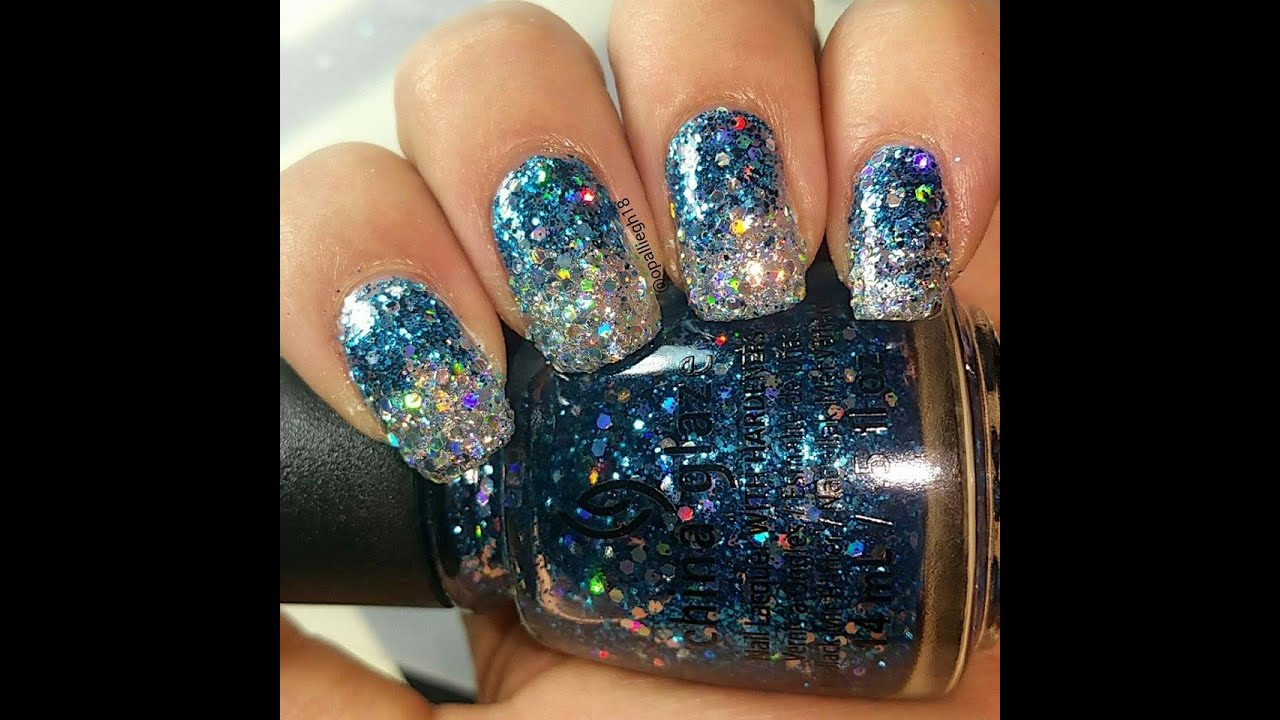 UNT peel off base coat- removal of Glitter polish- attempt 1 - YouTube