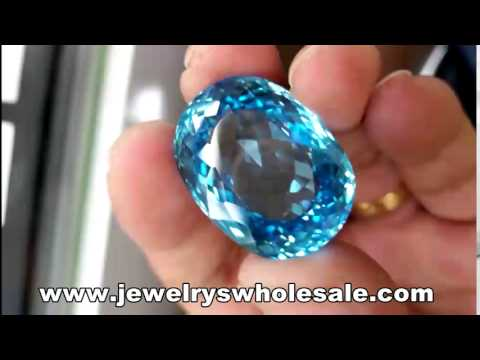 Beautiful Oval Swiss Blue Topaz 79 Carat Wholesale Price from Brazil Gemstones