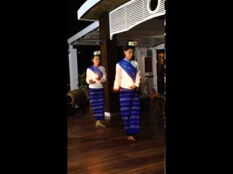Myanmar Folk Dance on Luxury River Cruiser Orcaella