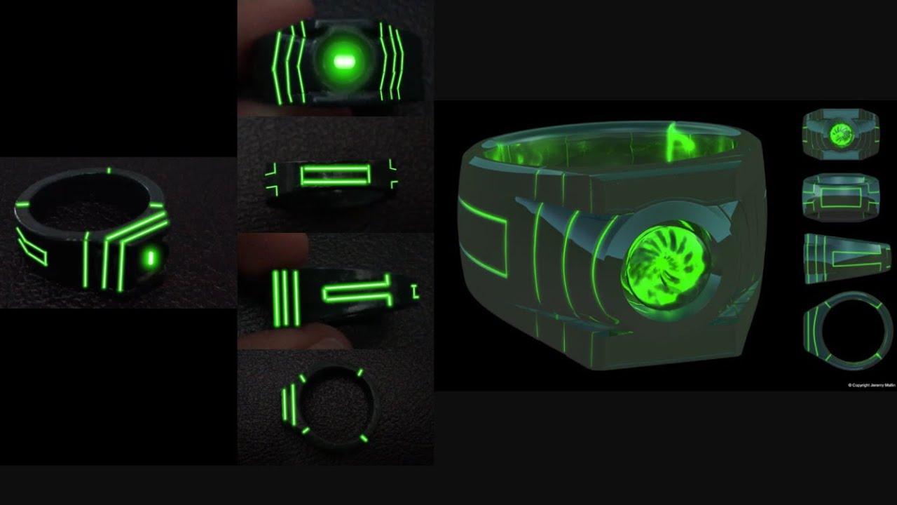 Green Lantern Ring Custom Green la...