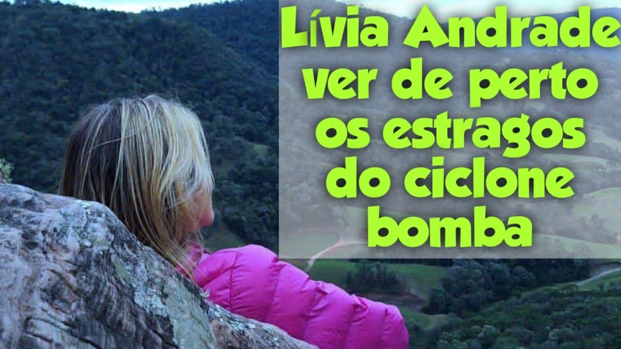 Lívia Andrade passa por perrengue com ciclone bomba em Santa Catarina
