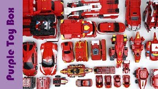 31 Red Transformers Robot Car Toys, Airplane Dinosaur Animal Car Transformers