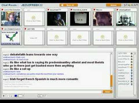JEZUZFREEK22 the private chatroom on stickam in 30 seconds