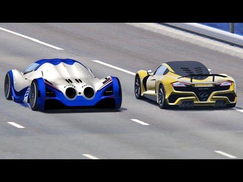 Devel Sixteen vs Hennesey Venom F5 – Drag Race 20 KM