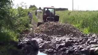 Трактор ДТ-75.Грузовик МАЗ-5551,ЗИЛ.Строительство плотины