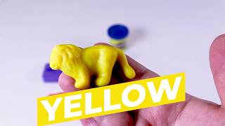 Learn Colors and Numbers with Play-doh Play