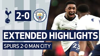 EXTENDED H GHL GHTS  SPURS 2 0 MAN C TY  Bergwijn And Son Goals Beat City