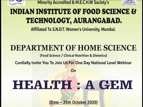 'HEALTH: A GEM' - One Day National Webinar