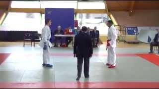 US Creteil Karate Demi finale Sivam en Rouge