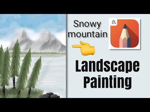 Landscape painting || digital painting || Autodesk sketchbook