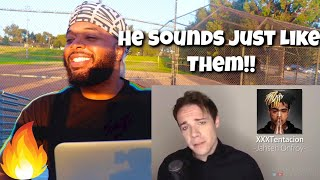 ONE GUY 54 VOICES (With Music!) Famous Singer Impressions | Reaction