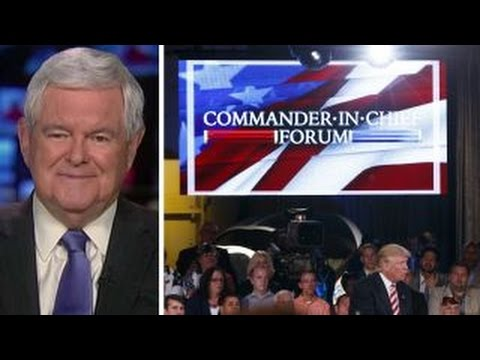 Newt Gingrich reacts to NBC
