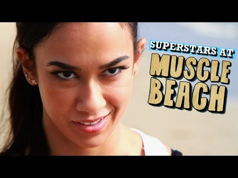 AJ Lee sets her mind on SummerSlam at Muscle Beach