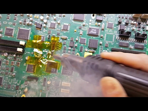 SMD soldering tutorial - replacing electrolytic capacitors - complete with magic smoke!