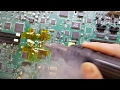 - SMD soldering tutorial - replacing electrolytic capacitors - complete with magic smoke!