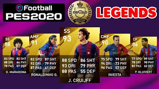 PES 2020 ALL 50 LEGENDS UPDATED OFFICIAL RATINGS (Upgrades & Downgrades) Mobile & PC