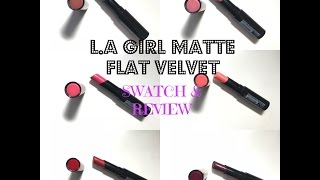 LA Girl Matte Flat Velvet Lipstick Swatch & Review| by TheMake.A.Holics