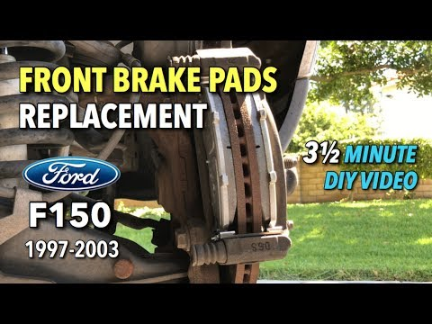 Ford F150 Front Brake Pads Replacement 1997 2003 3 1 2 Minute Diy Video Youtube
