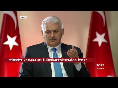 Başbakan Binali Yıldırım TGRT Haber - 12 Nisan 2017