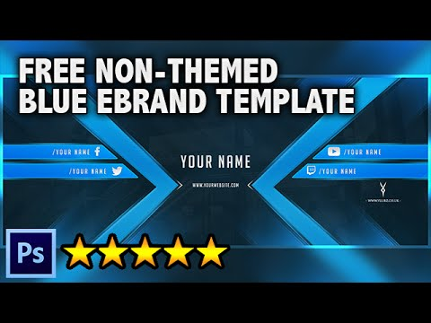 FREE Non-Themed Blue YouTube Banner, Twitter Cover and Avatar ...