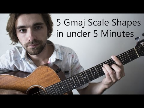 Learn a G major scale, in 5 different ways, in under 5 minutes
