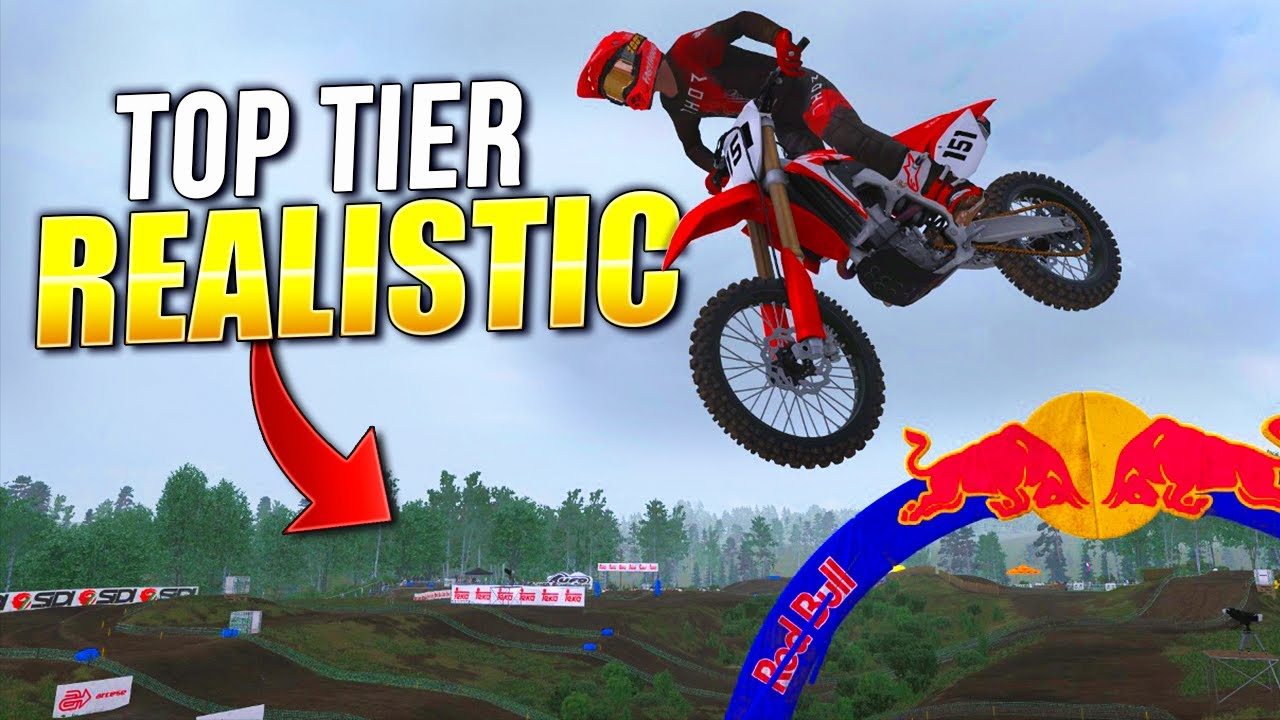 Download Top Tier Realistic - This Track Is On FIRE! - MX Bikes Gameplay