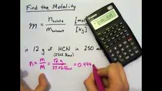 molality chemistry