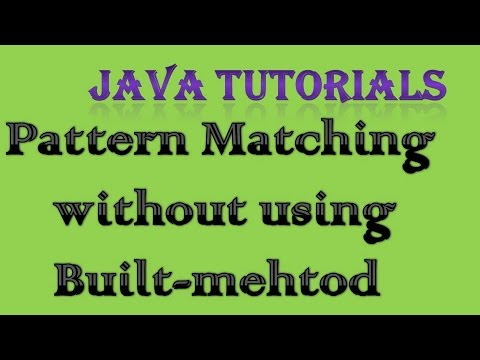 Pattern Matching in Java without using Built-in Method | Interview Coding  Question