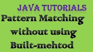 Pattern Matching in Java Interview Question