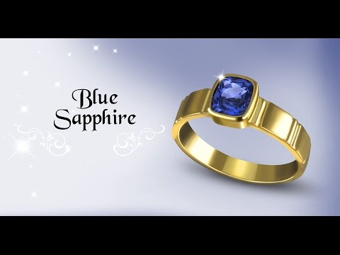 Blue Sapphire Ring for Wedding