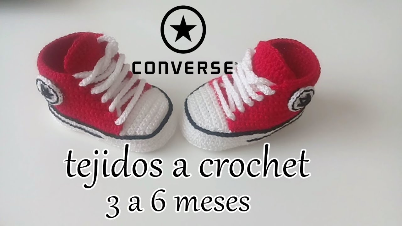3c3d9cbe3 converse tejidos a crochet - bebe - ALL STAR - YouTube